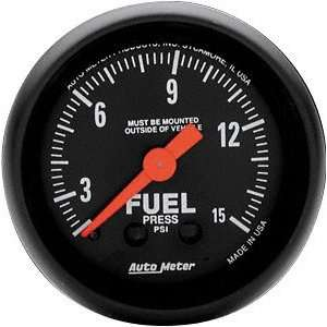 Meter 2603 Z Series 2 1/16 0 15 PSI Mechanical Fuel Pressure Gauge