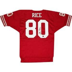 Jerry Rice Autographed Red Custom Jersey Sports