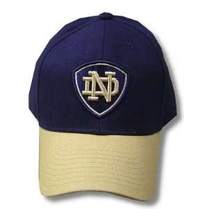 NCAA OFFICIAL NOTRE DAME IRISH LOGO NAVY CAP HAT ADJ