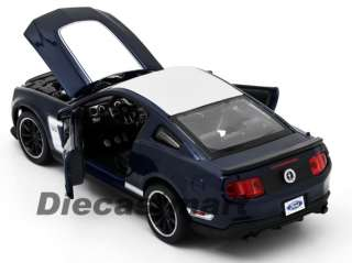 MAISTO 124 2011 FORD MUSTANG BOSS 302 NEW DIECAST MODEL CAR NAVY BLUE