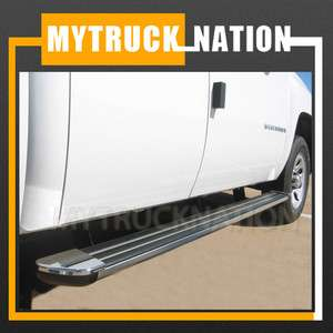 2007 2012 Chevy Silverado Crew Cab 5 Aluminum Running Boards Chrome