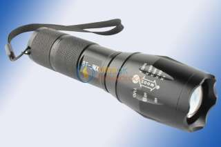 XML T6 LED Zoomable Flashlight Torch Lamp+Battery+2*Charger