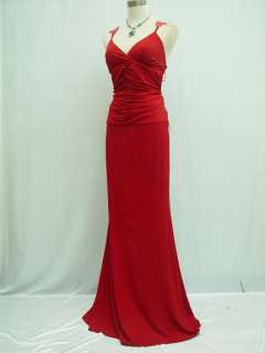 Cherlone Red Backless Long Lace Prom Ball Gown Evening Dress UK Size