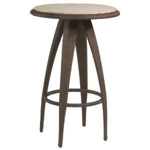 White Craft S533736 Bali Bar Table with Stone Top in