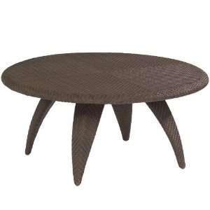 White Craft S533211 Bali Cocktail Table with Woven Top in