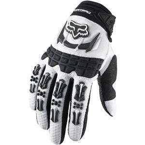 Fox Racing Pee Wee Dirtpaw Gloves   Youth X Small/White Automotive