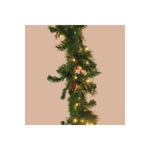 with Cones Artificial Christmas Garland   Clear Lights