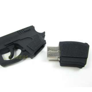 8GB 8 GB black gun shape USB Memory Stick Flash Drive
