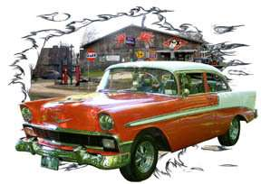 You are bidding on 1 1956 Orange Chevy Bel Air Sedan Custom Hot