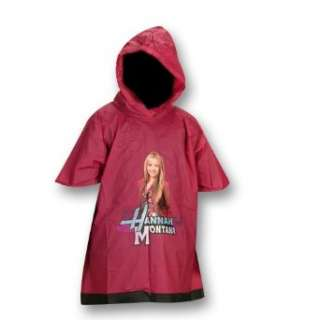 Disney Hannah Montana Girls One Size Fits All Rain Poncho Clothing