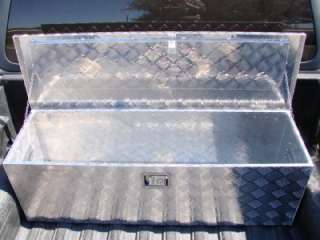 48L ALUMINUM TRUCK PICKUP BED TRAILER ATV TONGUE LOCKABLE TOOL BOX