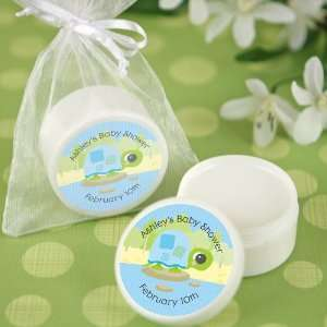 Blue Baby Turtle   Personalized Lip Balm Baby Shower Favors Baby
