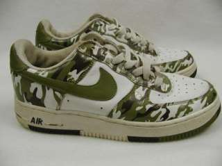 Nike AIR FORCE 1 Camo Shoes Sneakers Boys YOUTH 6.5