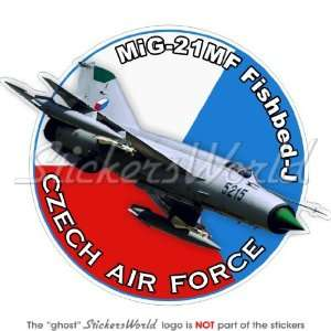 MIG 21 Fishbed CZECH AirForce 3,8 (95mm) Vinyl Bumper