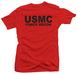 USMC Force Recon Marine Corps US New USA NWT T shirt
