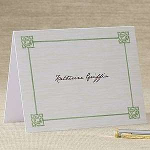 Personalized Celtic Knot Note Cards & Envelopes Health