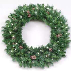 8 Pre Lit Cheyenne Pine Commercial Christmas Wreath