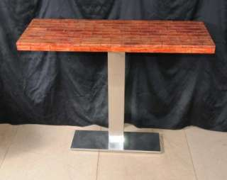 Italian Art Deco Snakeskin Console Table
