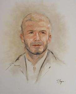 Original oil painting   portrait art   david beckham