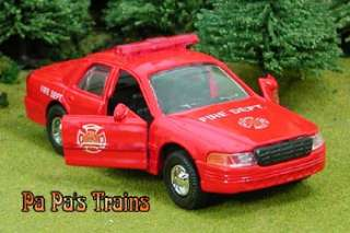 Die Cast Fire Department Police Series Car O Scale 143
