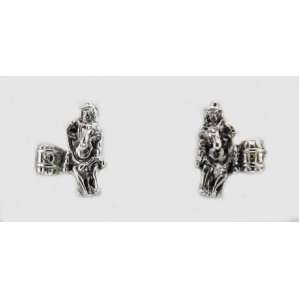 Barrel Racing Western Horse Post Earrings