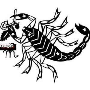 SCORPIO ZODIAC SIGN WHITE VINYL DECAL STICKER Everything