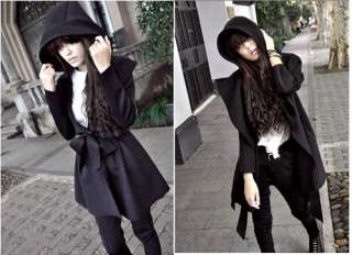 Womens Coat Korea Hooded Trench Jacket Dress Style Outerwear Tops