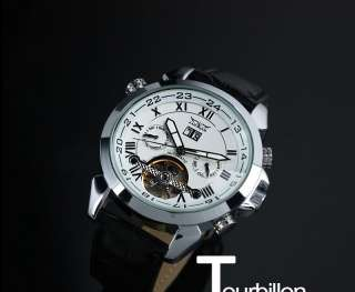 New TOURBILLON Automatic Mechanical Luxury Self Winding Mens Date
