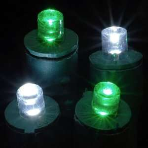 Green & Pure White LED String Lights