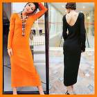 New Ladies Womens Sexy Backless Long Sweater Dress 2 Color T09303