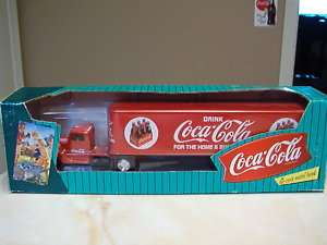 COLA SEMI TRUCK DIE CAST METAL BANK  6 PACK FOR THE HOME   NIB