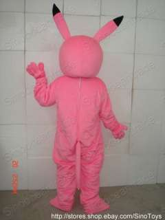PINK Pikachu ADULT SIZE MASCOT COSTUME SUIT FANCY DRESS