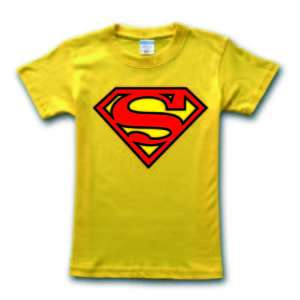 The BIG BANG THEORY T shirt Superman Mens Unisex Super man Yellow Size