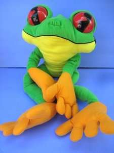24 Large Green TREE FROG Plush RAINFOREST CAFE Soft Stuffed Animal