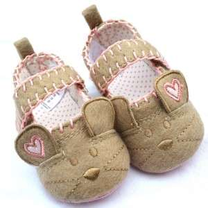 Brown pink cat Mary Jane toddler baby girl shoes size 2 3 4