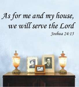 Vinyl Wall Art Decor Decal Sticker Bible Verse JOSHUA 2415 As For Me