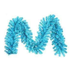Vickerman 14751   9 x 12 Sky Blue Garland 70Teal 220T