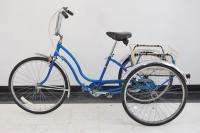Schwinn Town and Country adult tricycle trike blue bicycle bike USA