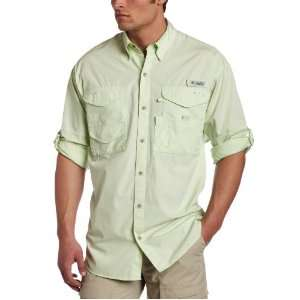 Columbia Sportswear Mens Bonehead Long Sleeve Shirt (Medium, Light