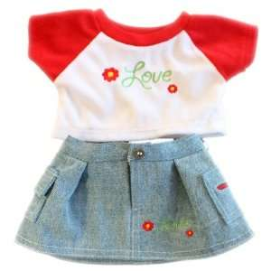 Red Flower Love Outfit Teddy Bear Clothes Outfit Fit 14