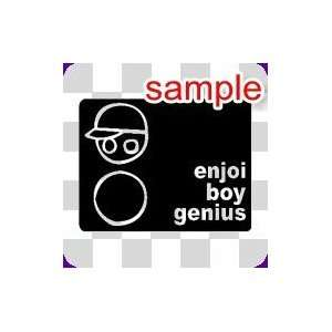 RANDOM ENJOI BOY GENIUS 10 WHITE VINYL DECAL STICKER