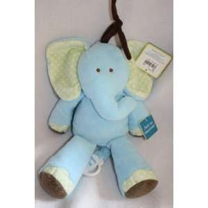 Carters Just One Year Blue Musical Plush Elephant Toys & Games