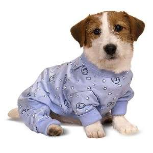 Ethical Dog Puppy Apparel Clothes Pajamas PJs BLUE~XS