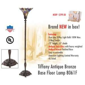 American Lighting 8061F Tiffany Antique Bronze Base Floor