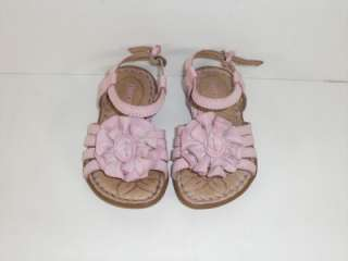 Born Kids Pink Little Flower 5 M Toddlers Girls Strappy Sandals Shoes