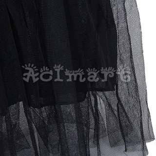 Girl Ballerina Style Mix&Match Long Maxi Gauze Skirt Tutu Tulle Dress