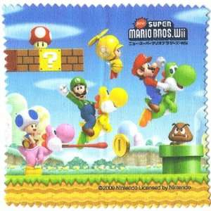 Super Mario Bros. Wii Screen Cleaner 3DS Wiper Epoch Nintendo Japan
