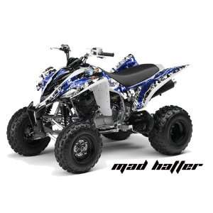 AMR Racing Yamaha Raptor 350 ATV Quad Graphic Kit   Madhatter Blue