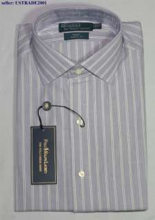 NWT POLO RALPH LAUREN MENS REGENT STRIPED DRESS SHIRT