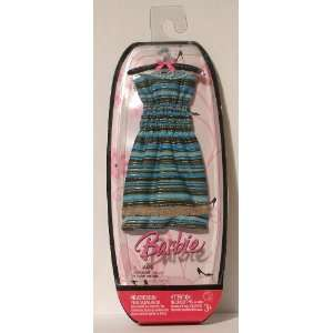 Barbie Fashions   Blue Striped Strapless Sundress Toys & Games